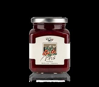 Marmellata di mirtilli rossi (75%) 335 g