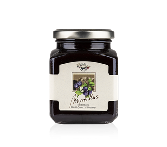 Marmellata di mirtillo nero (75%) 335 g