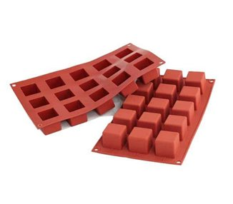 Silicone cube shape 15/35 mm