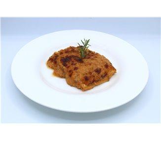Lasagna con manzo e finferli - 4 porzioni
