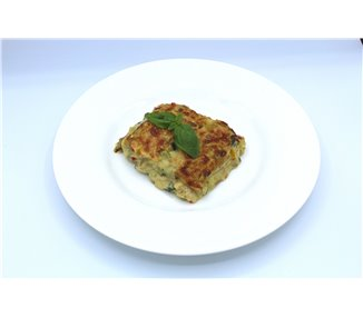 Lasagne with grilled vegetables, buffalo mozzarella and basil - 4 portions