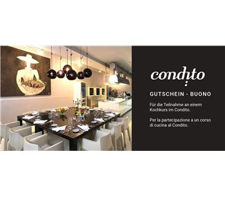 Voucher for a cooking course in Condito - 1 participant