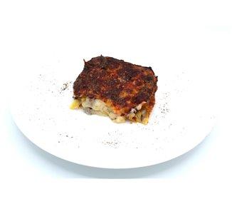 Lasagne con brasato di manzo, erbe e verdure a radice - 2 porzioni