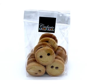 "Handmade butter biscuits ""Smileys"" with chocolate filling Kond. Cadario 200g"