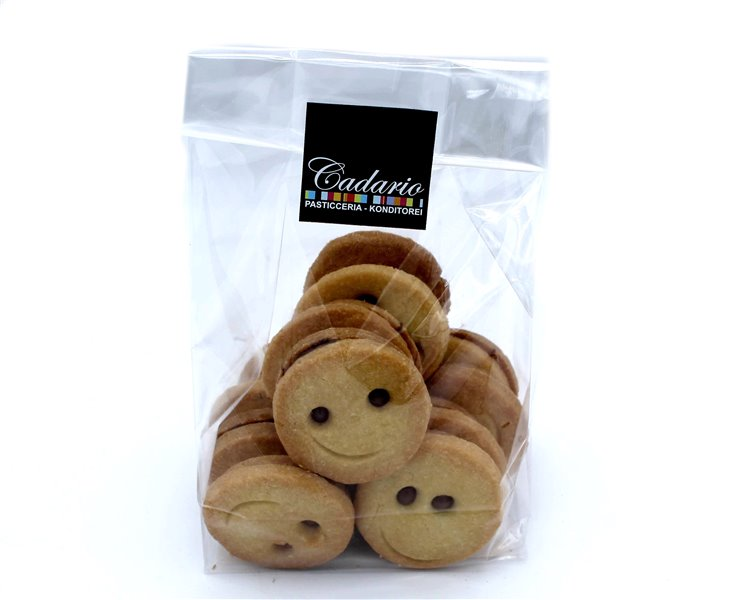 """Handmade butter biscuits """"Smileys"""" with chocolate filling Kond. Cadario 200g"""