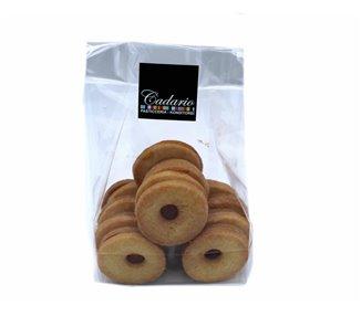 Spitzbuben fatto a mano con ripieno di marmellata Kond. Cadario 200g