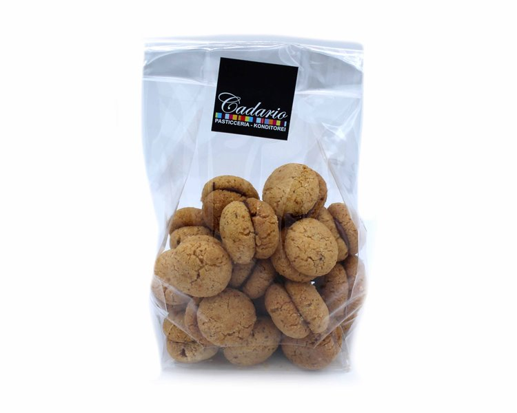"Handmade hazelnut biscuits ""baci di dama"" with chocolate filling, Cond. Cadario 200g"